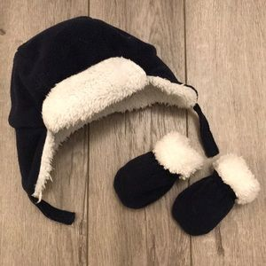 ✨2/$20✨Children's Place Trapper Hat and Mitten Set